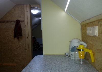 Podkroví kuchyňka