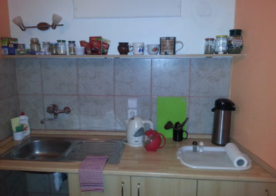 Poustevna - kuchyňka